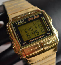 VINTAGE! Casio Gold Tone DB-580 Men's Watch NEW BATTERY!