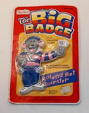 1985 Bluebird Toys - The Big Badge - ROLAND RAT - Brand New on Card - MOC