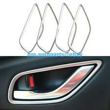 PM Matte Chrome Interior Door Handle Cover Rim Trims New for Mazda CX-5 CX5 2014
