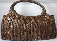 Santi Shoulder Purse Bag Embroidered wooden Beads