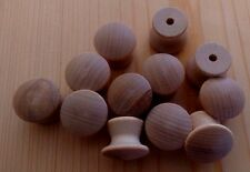 "Drawer Pulls - 1"" Wooden Knobs - 12 pieces"