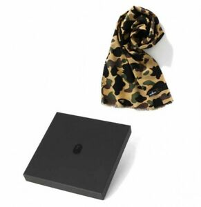 Mr. BATHING APE By A BATHING APE 1ST CAMO STOLE Yellow Fast Shipping Japan EMS