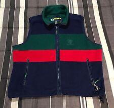 Vintage 90s Eddie Bauer EBTEK Colorblock Fleece Hip Hop Zip Jacket Vest - Large