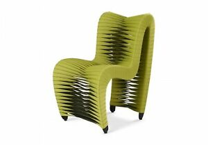 """26"""" W Seat Belt Dining Chair Modern Contemporary Green Polycotton Fabric"""