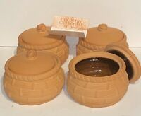Country Cupboard By Rubel Terra Cotta French Onion Soup Bowls Vintage Set Of 4