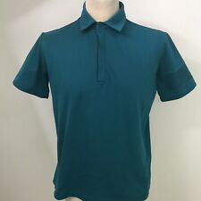 RAPHA Men's Essential Pique Polo Shirt Teal Medium Cycling