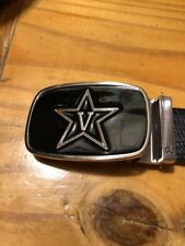 Druh Vanderbilt Belt & Buckle Size Up To 42� Silver Leather Mens Golf