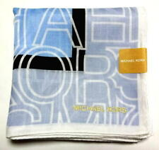 Michael Kors Handkerchief Hanky Scarf Bandana Stripe Logo Cotton Auth