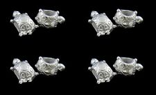 ❤ 5 x Silver Plated TURTLE European Spacer Bead For Charm Bracelet UK ❤