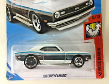 New Factory Sealed Hot Wheels '68 COPO CAMARO SS White Die Cast Car Collectible