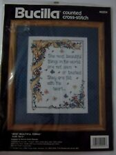 Bucilla Counted Cross Stitch Picture Pillow Kit Most Beautiful Things 40254