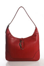 Hermes Red Veau Grain Lisse Leather Trim 31 Shoulder Handbag BY4435 MHL