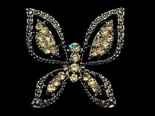 Elegant Black Butterfly Brooch in Gift Box