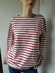 Pullover Sweatshirt Bretagne Ringel Streifen 40  von Mousqueton  wie Saint James
