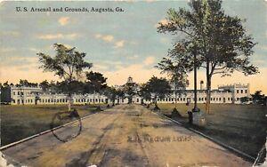 Augusta Georgia 1911 Postcard U.S. Arsenal And Grounds