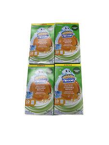 Lot of 4 Scrubbing Bubbles Fresh Brush Flushable Refills Citrus New 40Total Pads