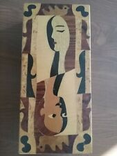 "Andrew Szoeke antique small desk items wooden box (9""x4"")"