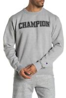 Champion Mens Hoodie Sweatshirt Front Graphic Print GRAY size M new