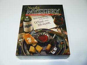 A TASTE FOR WINE & MURDER - MURDER MYSTERY DINNER PARTY GAME W/ CD - SOMMELIER