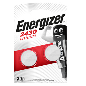 2 x Energizer CR2430 3V Lithium Coin Cell Batteries 2430 Battery. 0198