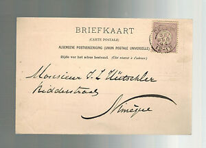1894 Netherlands Holland Postcard Cover
