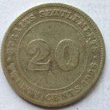 Straits Settlements 20 cents 1926 coin (A)