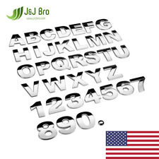 J&J Bro™ Metal Chrome Car Sticker Letter Alphabet Number Emblem 25MM Small Size