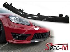 Front Bumper Carbon Fiber Center Cover Lip For 2012+ W204 C204 C63 AMG Only