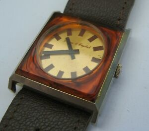 2953* montre à remontage mécanique young & engish suisse made design 1970