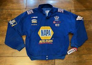 Michael Waltrip #1 Napa Auto Parts Racing Race Jacket Mens Size Large NASCAR New