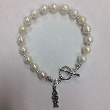 Delta Phi Epsilon Sorority Freshwater Pearl Toggle Bracelet, DPE, FREE SHIPPING