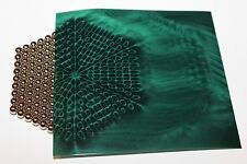 Magnetic Field Viewer Film 203 mm x 203 mm (8in x 8in) Genuine USA 'Green film'