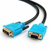 5M - DVI (DVI-I) to VGA Monitor PC TFT Monitor TV LCD Projector Cable Lead #J28