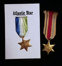 PAIR UK Britain Military Mini Medals Ribbon Atlantic Star & Africa Star
