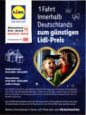 1x DB Deutsche Bahn LIDL Ticket IC/ICE/EC Freifahrt Gutschein Code !Flex Zug!