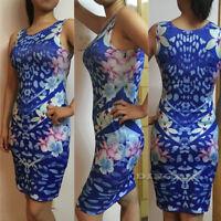Women Sleeveless Floral Business Evening Party Bandage Bodycon Mini Dress CHK