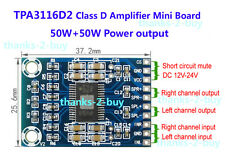 DC 12V 24V Mini TPA3116D2 2x 50W Digital Audio Power Amplifier Board Class D Amp
