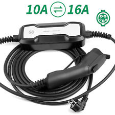 Portable EV Charger 10/16A 20Ft Cable Type1 EVSE Schuko plug SAE J1772 FOR ZOE