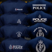 New Rare New Zealand Police Cops Navy Black T-shirt