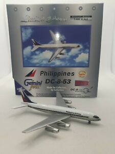 Gemini Jets 1:400 Philippines Airlines RP-C801 Douglas DC-8-53 Model Aircraft