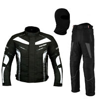Motorbike Textile Suit Waterproof Motorcycle Racing Suit Jacket Trouser - Grey