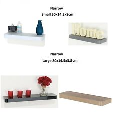 NARROW FLOATING WALL SHELVES SHELF SHELVING KIT RACK DECORATING DISPLAY 4 COLORS