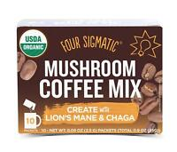 Mushroom Coffee, USDA Organic Coffee with Lion's Mane and Chaga mushrooms