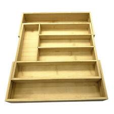 New listing Wooden Small Large Organiser Cutlery Tray Drawer Rack Utensil Storage Holder