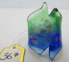 Un azul/verde y manchado Murano De Cobre/Anillo De Cristal De Murano. Reino Unido. M/n. US.6.5 (36 *)