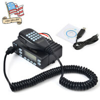 25W Dual Band Mini Portable Car Mobile Ham Radio Transceiver With Program Cable
