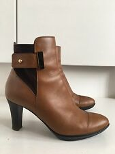 Aquatalia @ Russell & Bromley Ruby Dry Tan Leather Heeled Ankle Boots 5 38