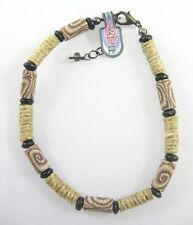 "New 9"" Anklet Featuring Fimo Beads & Wrapped in Hemp Asstd Colors #Z1087"