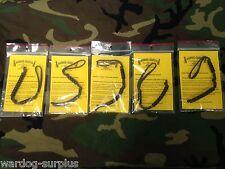 Lot of 5 Tactical Pace Counter Beads for Land Nav Ranger SURPLUS DEALER LOT USA