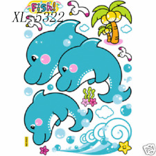Removable Kids Room Dolphin Wall Decal Sticker, 27x38cm